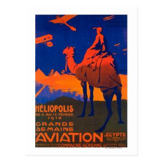 Poster promocional de la línea aérea francesa postales