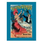 Poster promocional de Taverne Olympia Postal