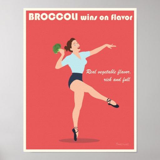 Poster promocional del bróculi - 11x14