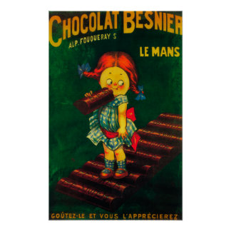 Poster promocional del chocolate de Besnier