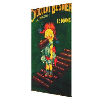 Poster promocional del chocolate de Besnier Impresion De Lienzo