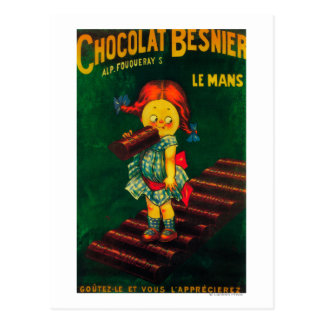 Poster promocional del chocolate de Besnier Postal