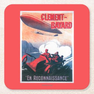 Poster promocional del dirigible de Adjudant Posavasos De Cartón Cuadrado