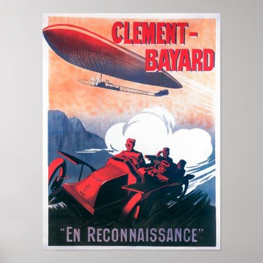 Poster promocional del dirigible de Adjudant Vince