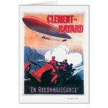 Poster promocional del dirigible de Adjudant Vince Tarjeta De Felicitación