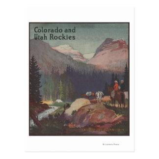Poster promocional del ferrocarril de Colorado Postales
