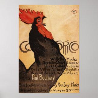 Poster promocional del gallo periódico de Cocorico