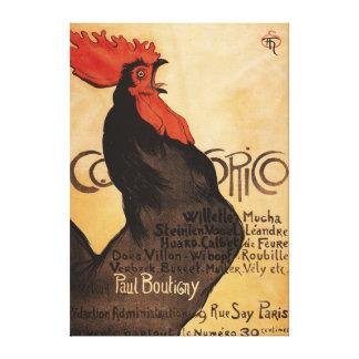 Poster promocional del gallo periódico de Cocorico Lona Envuelta Para Galerías
