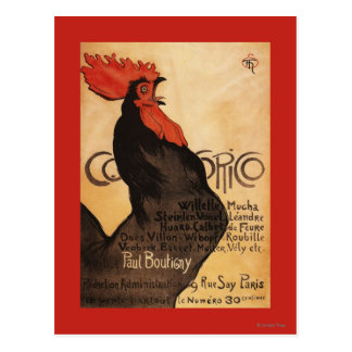 Poster promocional del gallo periódico de Cocorico Postal