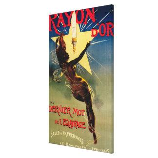 Poster promocional del restaurante de D'Or del ray Impresión En Lona Estirada