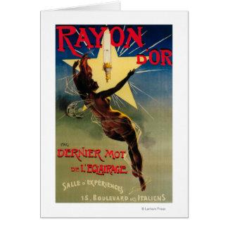 Poster promocional del restaurante de D'Or del ray Tarjeta De Felicitación