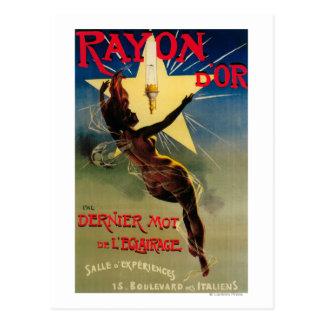 Poster promocional del restaurante de D'Or del Tarjetas Postales