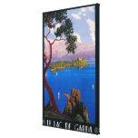 Poster promocional del viaje de Garda del lago Impresiones En Lona Estiradas