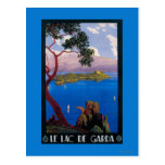 Poster promocional del viaje de Garda del lago Postales