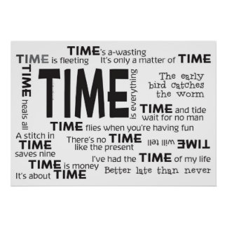 Poster - proverbios del tiempo