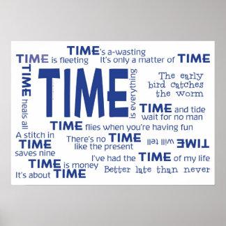 Poster - proverbios del tiempo azules