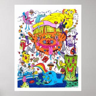 Poster psicodélico 1
