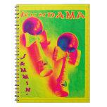 Poster psicodélico de Kendama Jammin Libro De Apuntes Con Espiral
