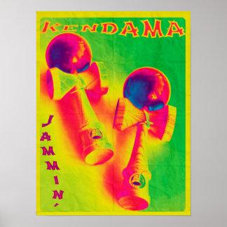 Poster psicodélico de Kendama Jammin Póster