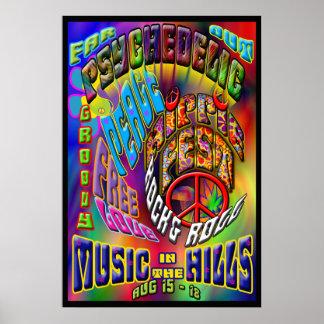 Poster psicodélico de la música de Hippiefest