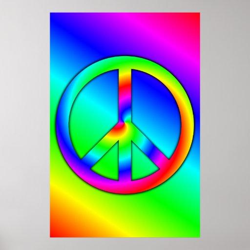 Poster psicodélico de la paz