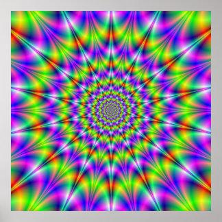 Poster psicodélico de los círculos