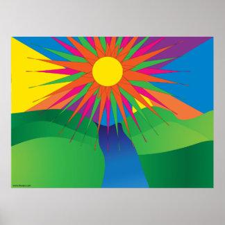 Poster psicodélico de Sun