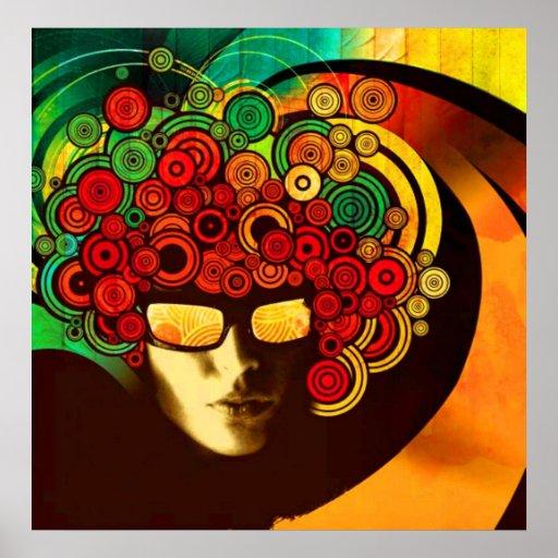 poster psicodélico del arte pop A PARTIR del 8,99