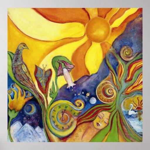 Poster psicodélico del arte pop de la fantasía ide