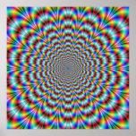 Poster psicodélico del doblador del ojo
