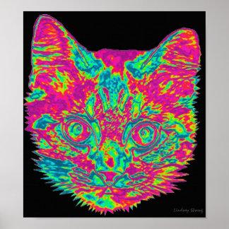 Poster psicodélico del gato
