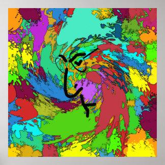 Poster psicodélico del Hippie