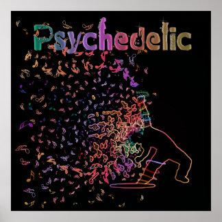 Poster psicodélico mágico de la música de la danza