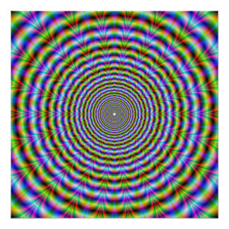 Poster  Psychedelic Neon Ripples