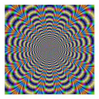 Poster  Psychedelic Ringed Pulse