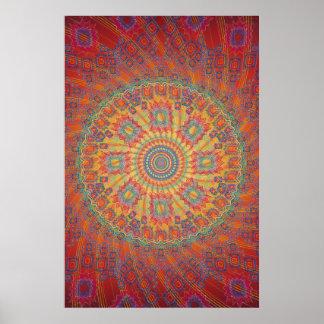 Poster: Psychedelic Spiral Fractal Artwork Poster