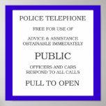 Poster público de la caja de llamada