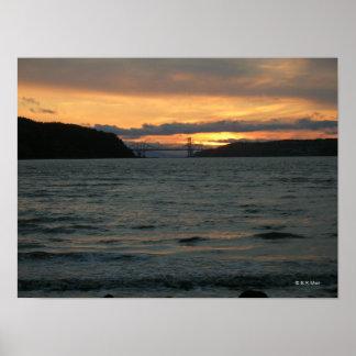 Poster - puesta del sol de Carquinez