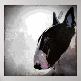 poster pulido del arte de bull terrier del inglés