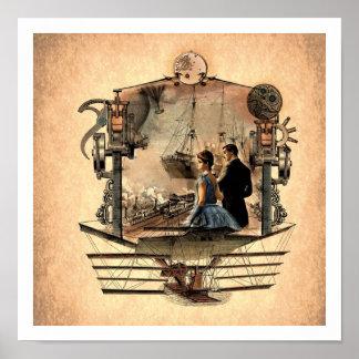 Poster punky 12x12 del arte del vapor