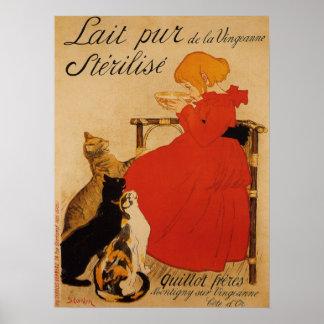Poster puro francés de la leche póster
