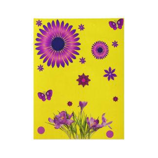 Poster purple flowers yellow