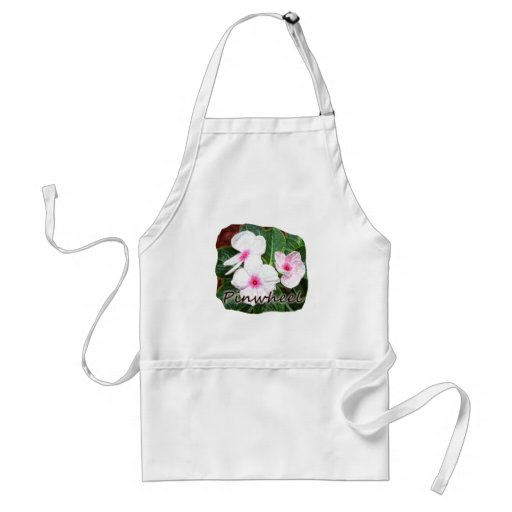 Poster Purple Pinwheel Flowers w text Aprons