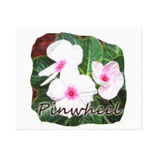 Poster Purple Pinwheel Flowers w text Canvas Print
