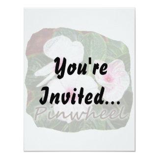 "Poster Purple Pinwheel Flowers w text 4.25"" X 5.5"" Invitation Card"
