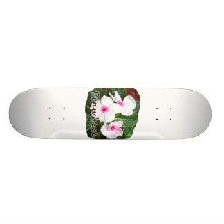Poster Purple Pinwheel Flowers w text Skateboard Deck
