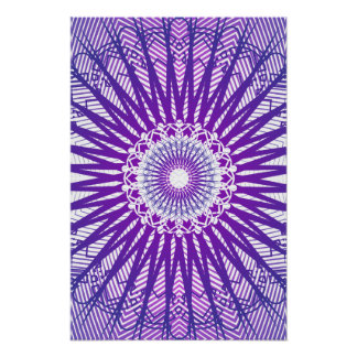 Poster: Purple Radial Pattern: Vector Drawing Poster
