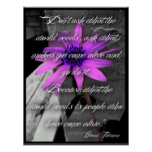 Poster, Purple Sunflower Howard Thurman Quote Poster