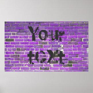 Poster púrpura adaptable de la textura de la pared