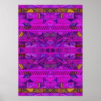 Poster púrpura de la geología de la raspa de